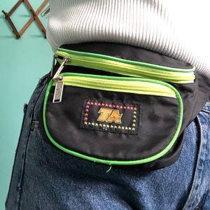 VTG 80s Neon TA Fanny Pack Belt Bag